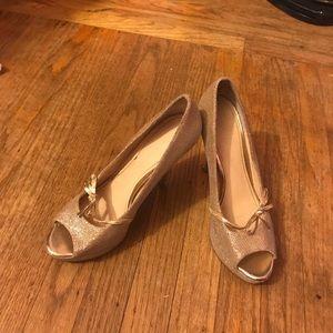 Enzo gold heels